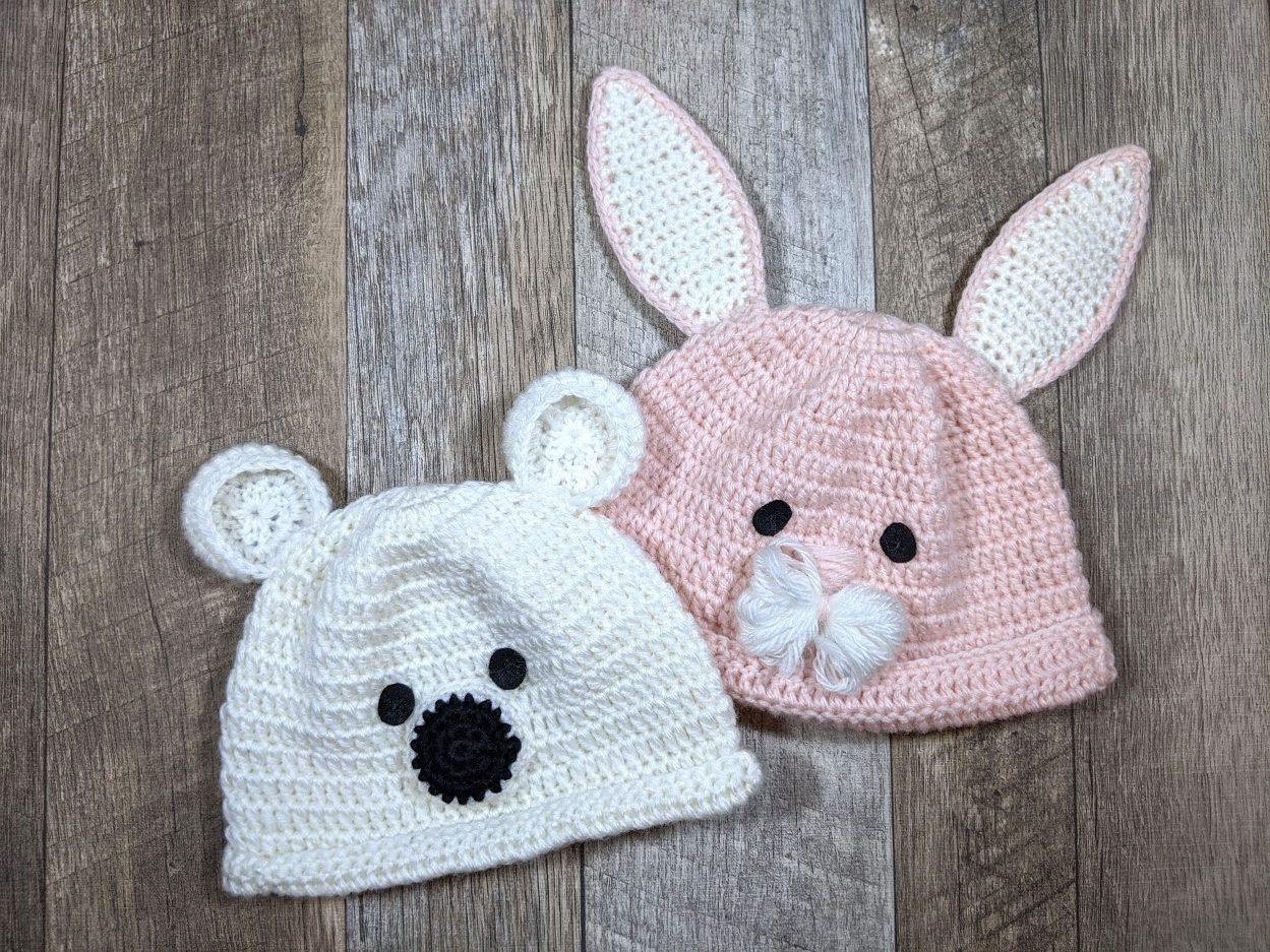 ベビーかぎ針編み帽子